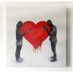 Kunstrasen - Love Love - original on canvas