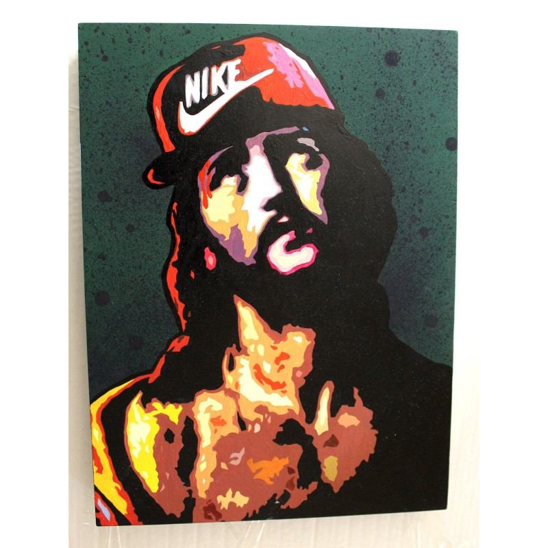 NAF MK - ECCE HOMO - ORIGINAL ON WOOD