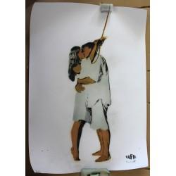 Nafir - Last Kiss - Original stencil on paper