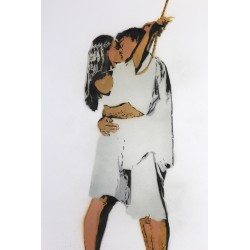 NAFIR - Last Kiss - Original stencil on paper number3