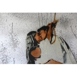 Nafir - Last Kiss - Original stencil on paper