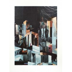 Chazme 718 - Men on the city - limited screen print