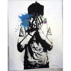 NAFIR - Tear Gas - stencil limited on paper