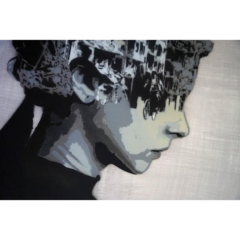 NAFIR - unique - stencil on paper