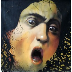 Andrea Ravo Mattoni  and David De La Mano - Echo of  Caravaggio 06 - Canvas