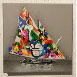 MARTIN WHATSON - Sail Boat - canvas