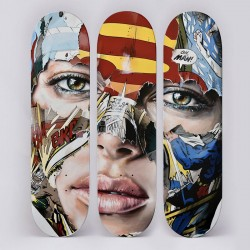 SANDRA CHEVRIER - Skate Triptich - hand signed and limited