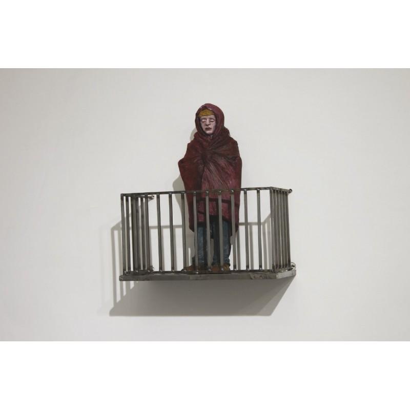 Isaac Cordal - Survivor - Sculpture