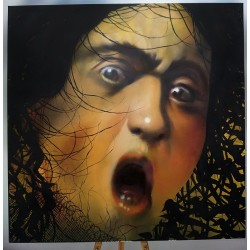 Andrea Ravo Mattoni  and David De La Mano - Echo of  Caravaggio Medusa - Canvas