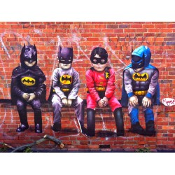 Fintan Magee - 3 bats and a Bird - limited