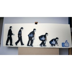 Nafir - Involution - stencil on paper