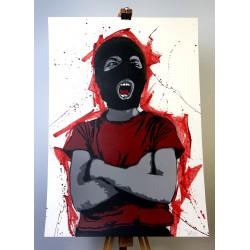 Alias  - Dissident - Stencil on paper - RED version