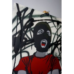 Alias  - Dissident - Stencil on paper - Black version
