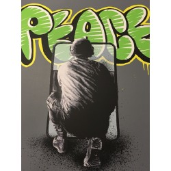 Martin Whatson screen print - peace riot