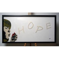 FRZ - Hope - stencil on plexy and wood