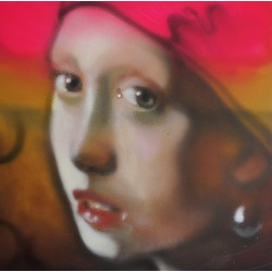 Andrea Ravo Mattoni -  Echo of Jan Vermeer 06 - canvas