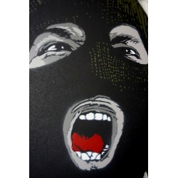 Alias  - Dissident - Stencil on paper - Black version