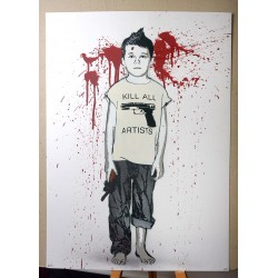 Alias  - Kill all Artist - Stencil on paper -