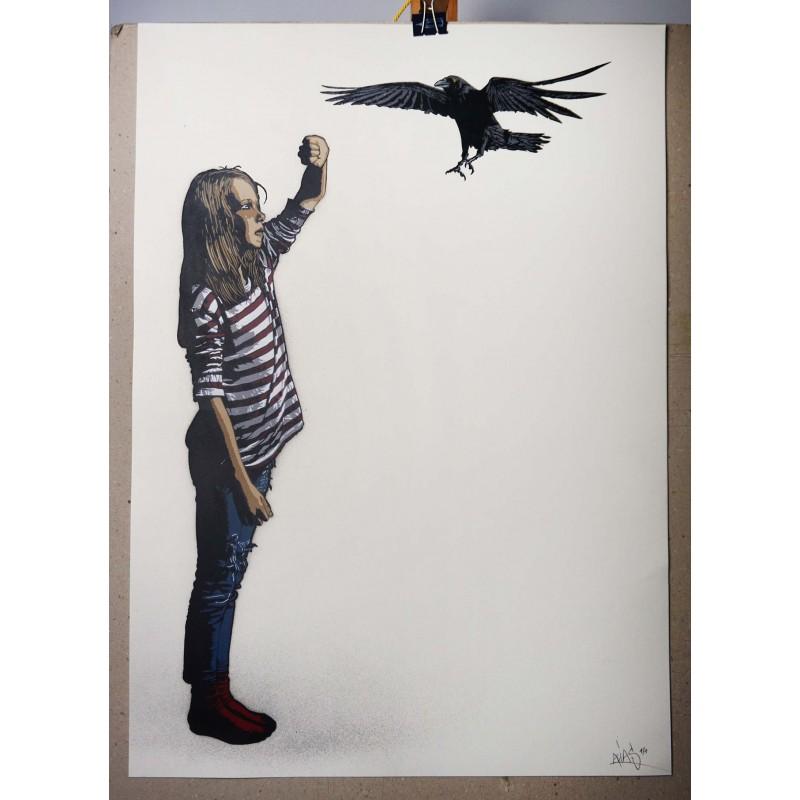Alias  - Untitled- Stencil on paper - 1/1