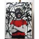 Alias  - Dissident - Stencil on paper - 1/1