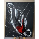 Alias  - Icarus- Stencil on paper - black paper