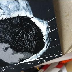 Alias  - Icarus- Stencil on paper - black paper