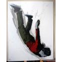 Alias  - Icarus- Stencil on paper - white 1 of 7