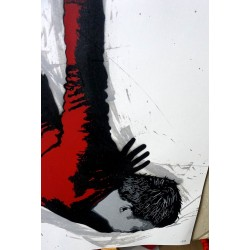 Alias  - Icarus- Stencil on paper - white 1 of 7