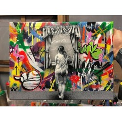 MARTIN WHATSON - Girl at Window - canvas