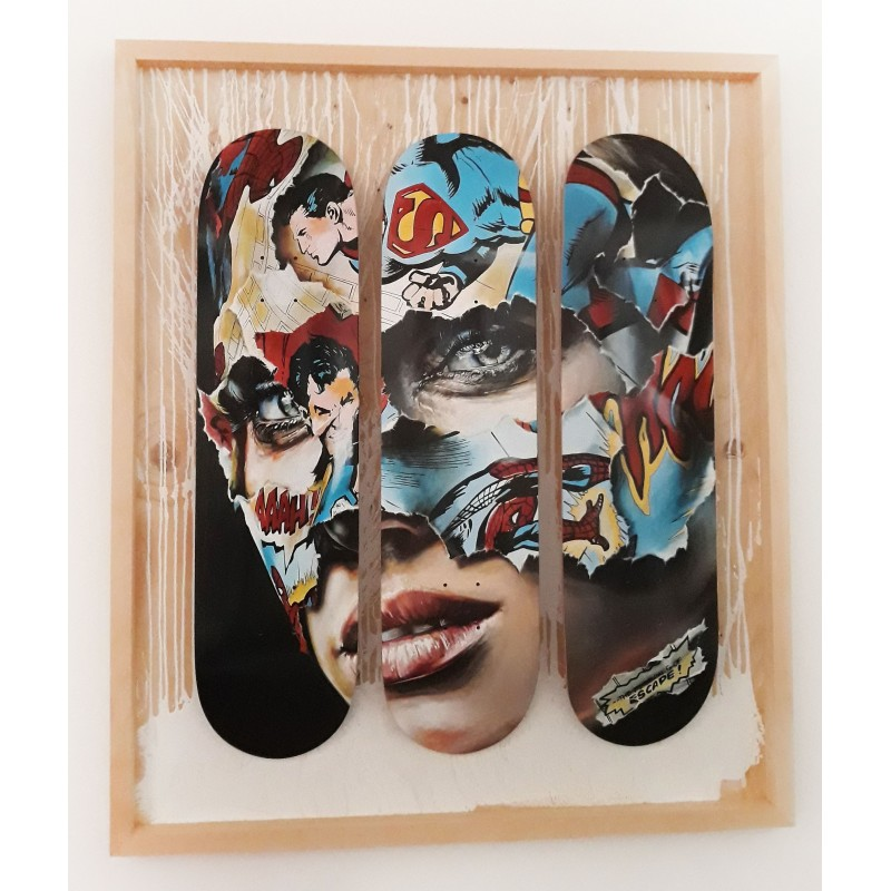SANDRA CHEVRIER - Skate Triptich Black - CONTACT US FOR ENQUIRY