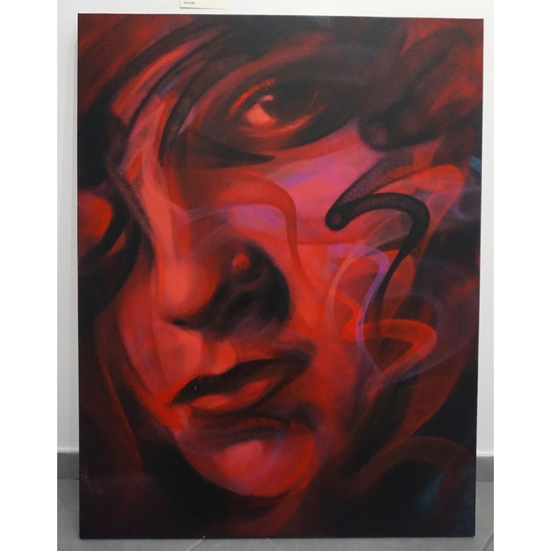 Sav45 - Red Lights - Canvas