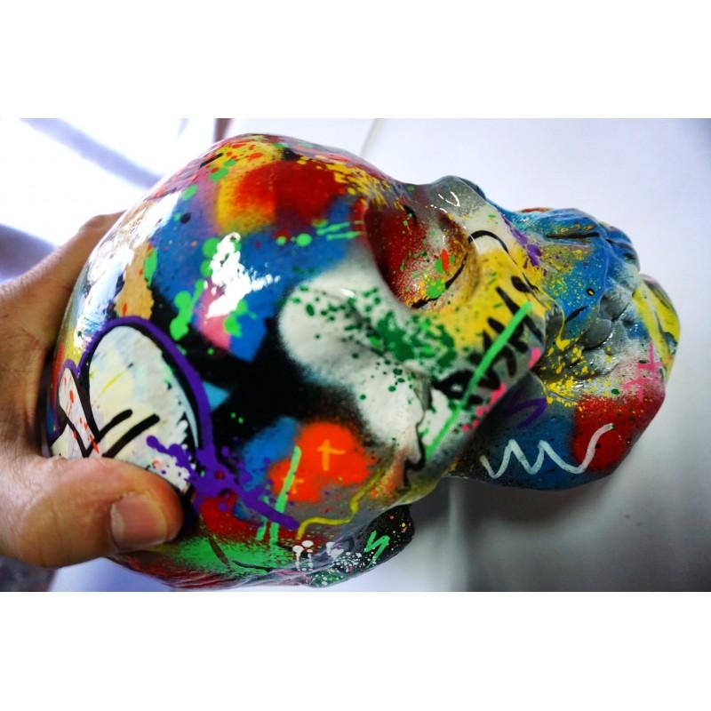 MARTIN WHATSON - skull - sculpture