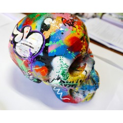 MARTIN WHATSON - skull - sculpture