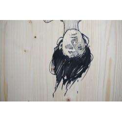 Etam Cru - Bezt - sketch on wood - unique