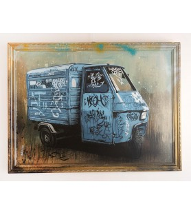 M-ONE - Graffitied Piaggio...