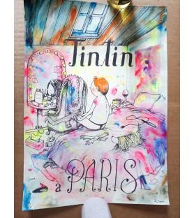 Dran - Tintin à Paris -...