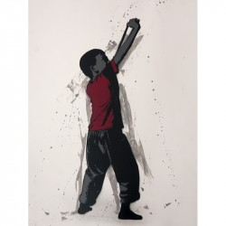 ALIAS - You peace me off - Stencil on paper