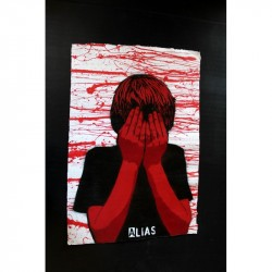 ALIAS - Faceless - Stencil on paper