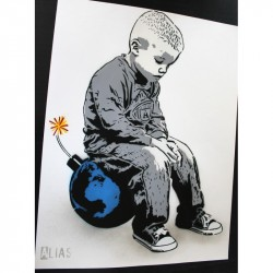 ALIAS - Bomb the World - Stencil on paper