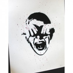 Alias Artist Proof  - Cry Boy - Original Stencil