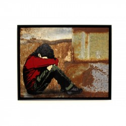 ALIAS - Hiding - Stencil on rusted iron