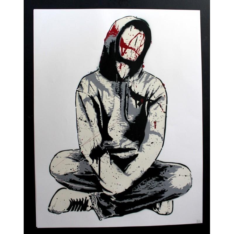 Alias - Faceless II -Stencil original on paper