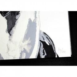 Sandra Chevrier - La Cage et le Battement de Coeur 2014 - limited screen print