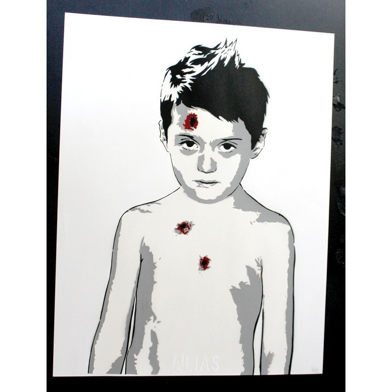 Alias - Untitled -Stencil original on paper