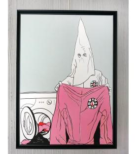 Lush - KKK on Pink - canvas...