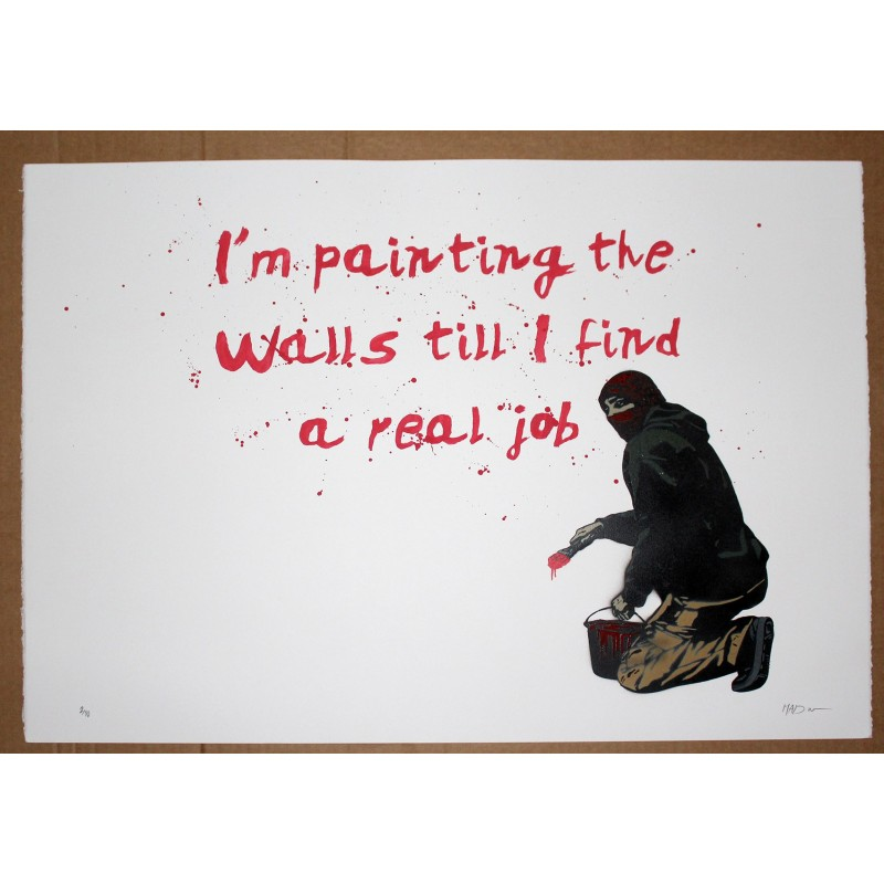 MAD - REAL JOB - STENCIL ON PAPER EDITION OF 10