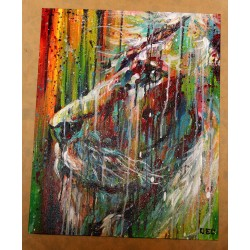 SEMA LAO - Original on canvas - Lion