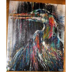 SEMA LAO - Original on canvas - heron