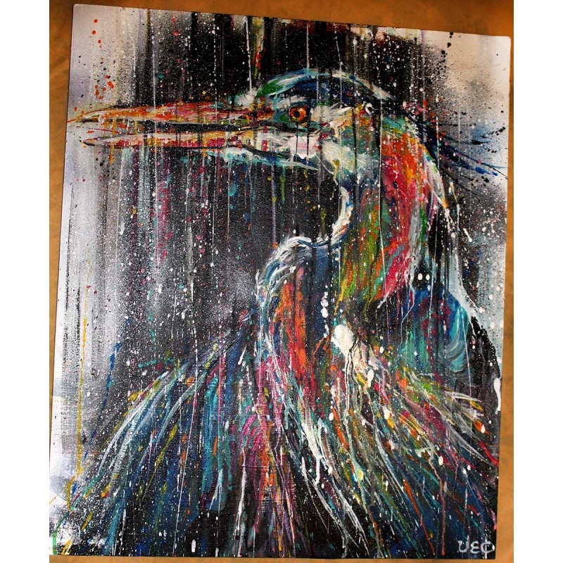 Sema Lao - original canvas - heron