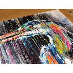 Sema Lao - original canvas - heron
